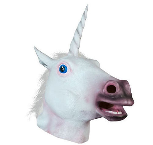 1. Sunxue Halloween Unicorn Animal Mask