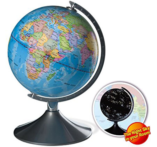 2. Interactive Globe for Kids, 2 in 1, Day View World Globe