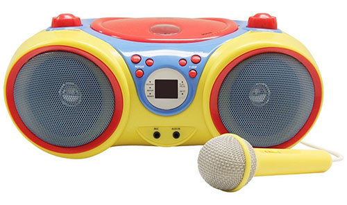 10. Hamilton Buhl Kids audio CD player karaoke machine w/ microphone