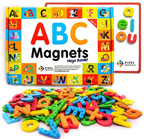 1. Pixel Premium ABC Magnets for Kids Gift Set