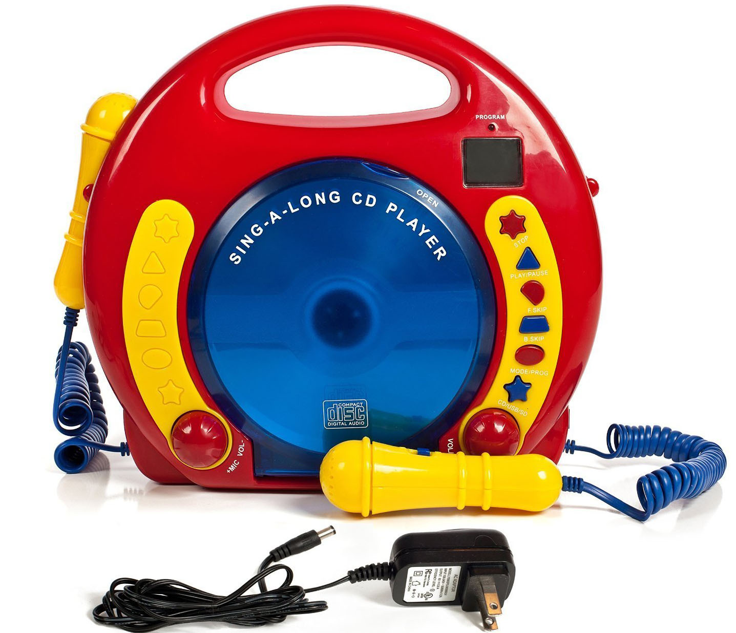 2. Portable sing along CD/USB/SD player anti-skip