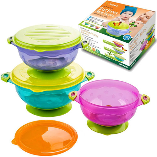 4. BabieB best suction baby bowls with seal- easy lid stackable