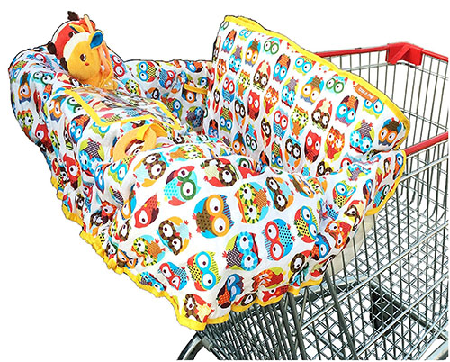 4. Crocnfrog 2-in-1 cotton shopping cart cover| high chair cover for baby