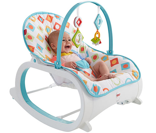 3. fisher-price infant to toddler rocker, geo diamonds