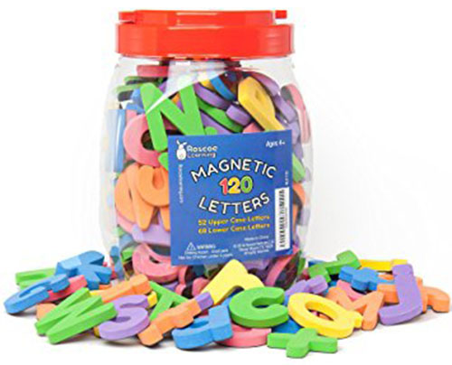 9. Roscoe Learning 120 Magnetic Letters