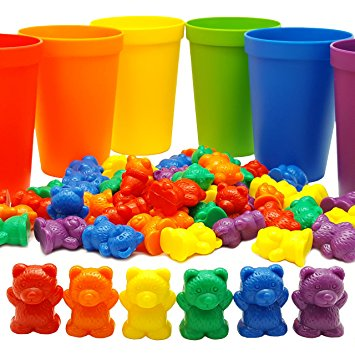3. 60 Rainbow Counting Bears Skoolzy