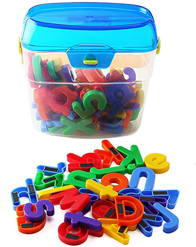 8. EduKid Toys 72 Magnetic Letters & Numbers