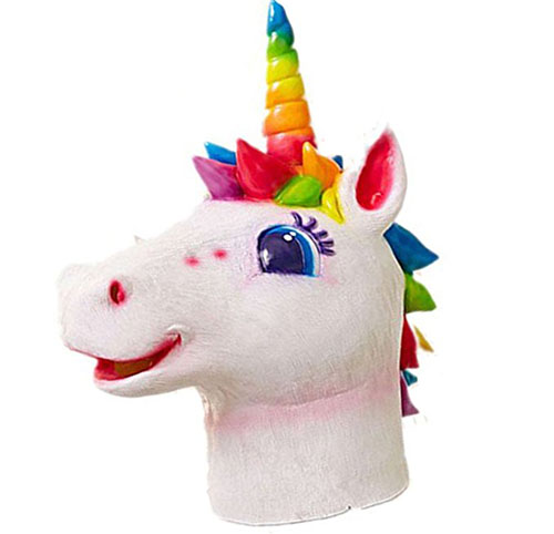 9. Majestic Rainbow Unicorn Mask Cosplay Costume