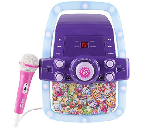7. Shopkins flashing lights karaoke machine