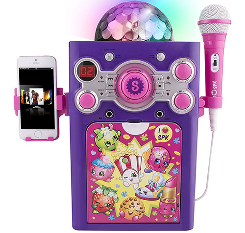 6. Shopkins disco ball karaoke machine
