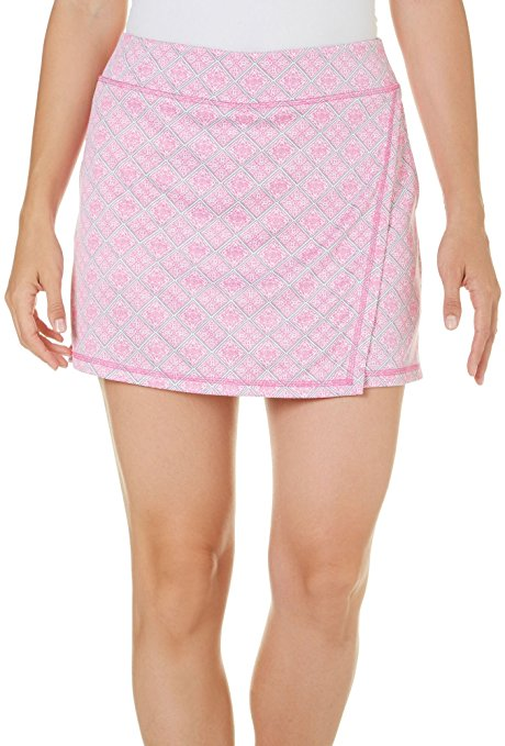 10. PGA TOUR Women's Diamond Mosaic Knit Skort