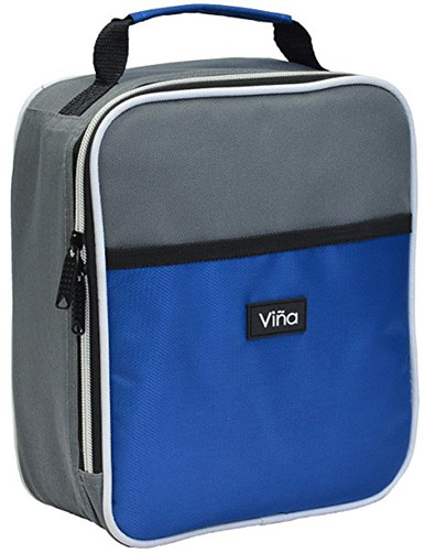 6. Vina Portable Lunch Bag, Blue