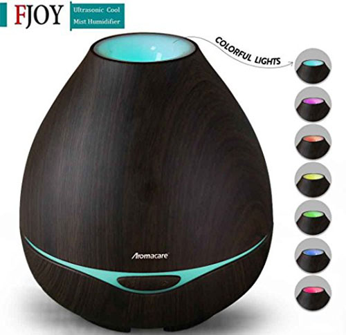 7. FOJNY 300ml Ultrasonic Aroma Essential Oil Diffuser