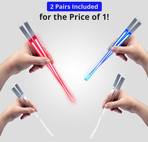 1 DBKay Light Up LED Light saber Chopsticks