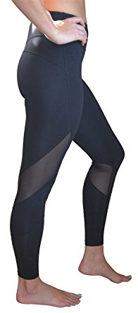 9. Women's Leggings Mesh Insert Yoga Pants by Yoggir