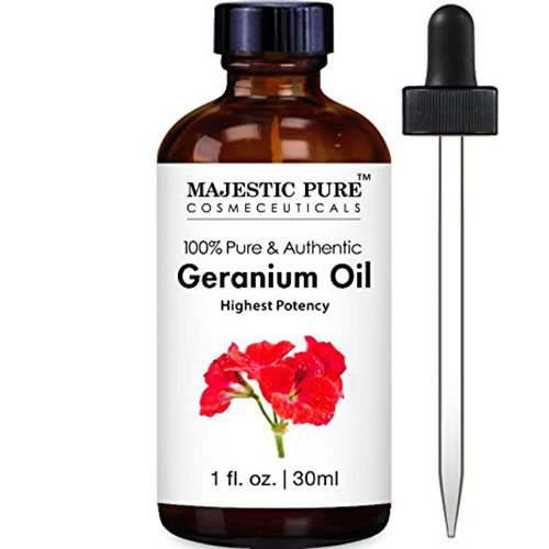 5. Geranium Essential Oil from Majestic Pure