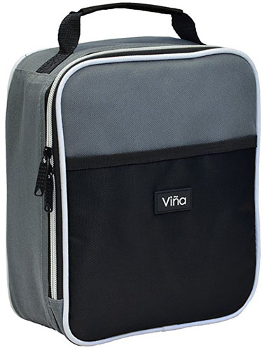 5. Vina Portable Lunch Bag, Black