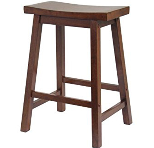1. Winsome Saddle Seat 24-Inch Counter Stool