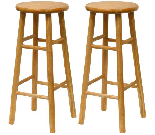 6. Winsome Wood S/2 Wood 30-Inch Bar Stools