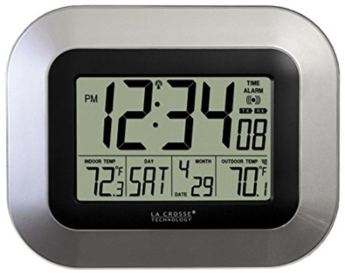 2. La Crosse Technology WS-8115U-S Digital Wall Clock