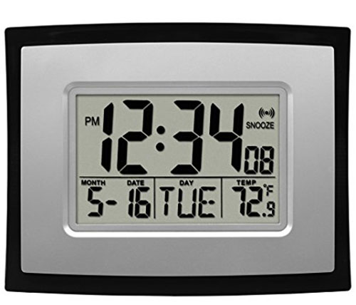 1. La Crosse Technology WT-8002U Digital Wall Clock