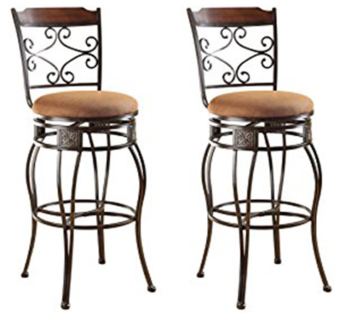5. ACME 96045 Set of 2 Tavio Swivel Bar Chair,