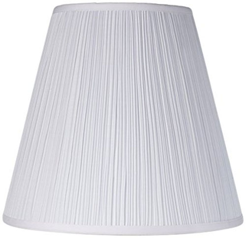 8. Brentwood Mushroom Pleated Shade 9x16x14.25 (Spider)