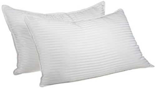 4. Superior White Down Alternative Pillow, stripped