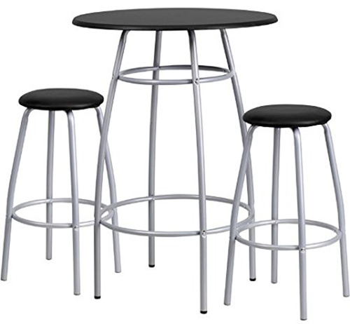 6. Flash Furniture bar height table and stool set