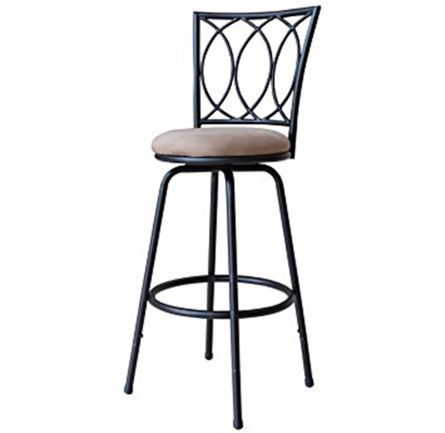 3. Roundhill Furniture Redico Adjustable Metal Barstool,