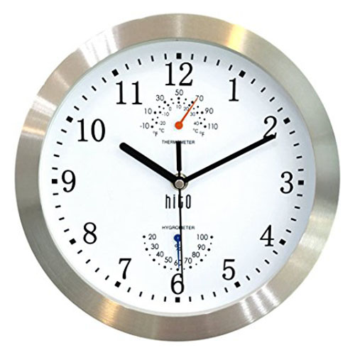 9. HITO Silent Non-ticking Wall Clock