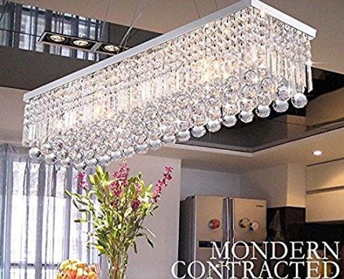 4. Clear K9 Crystal Chandelier