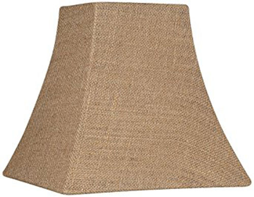 9. Burlap Square Lamp Shade 5.25/5.25x10x10x9.5 (Spider)