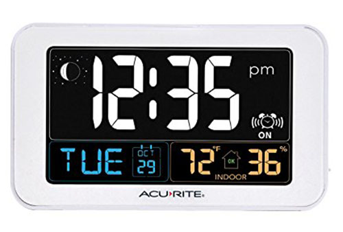 5. AcuRite 13040 Intelli-Time Alarm Clock