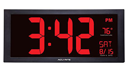 4. AcuRite 75100 Oversized LED Clock