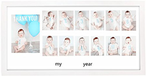 9. MaxMia Baby My First Year Keepsake Photos Frame