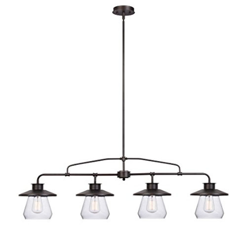 6. Globe Electric Angelina 4-Light Industrial Vintage Pendant