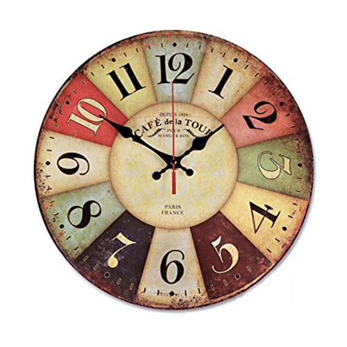 1. NALAKUVARA Wood Wall Clock