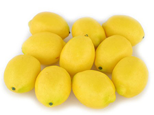 10. SAMYO Fake Fruit 10 pcs of lemon