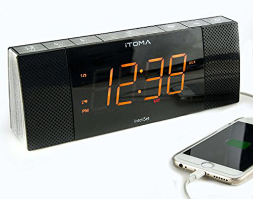10. iTOMA Bluetooth Clock Radio