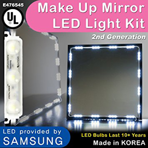 9. Crystal Vision Makeup Mirror LED Light Kit