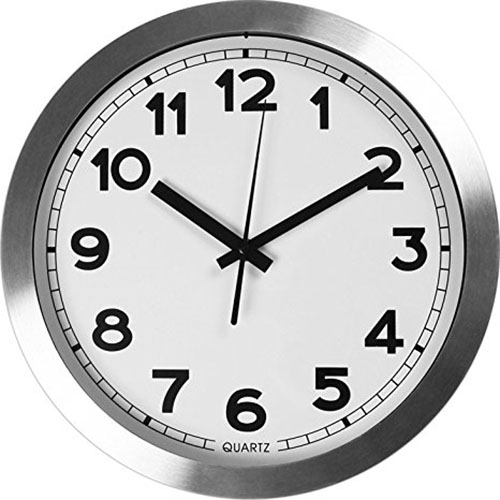 2. Large Indoor/Outdoor Decorative Silver Wall Clock