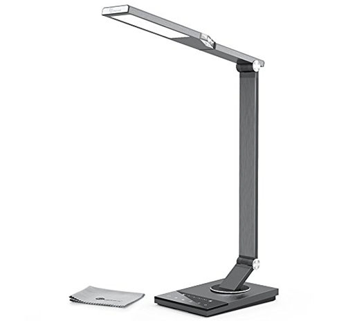 5. LED Desk Lamp, TaoTronics Stylish Metal Table Lamps for Office Lighting