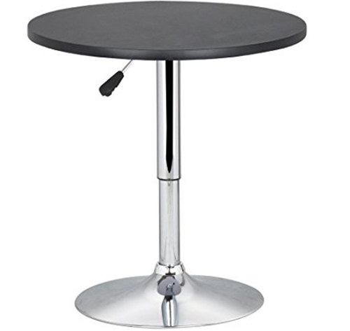 2. Topeakmart Pub Table Adjustable 360 Swivel Round Bar Table