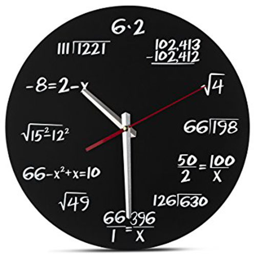 10. Math Clock - Decodyne Math Clock