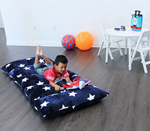 1. Heart to Heart Kid's Floor Lounger, Navy Blue