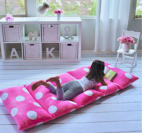 3. Heart to heart girl's floor lounger, King size, hot pink