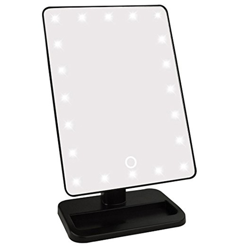 2. Jmkcoz Touch Screen 20 LED Lighted Makeup Mirror