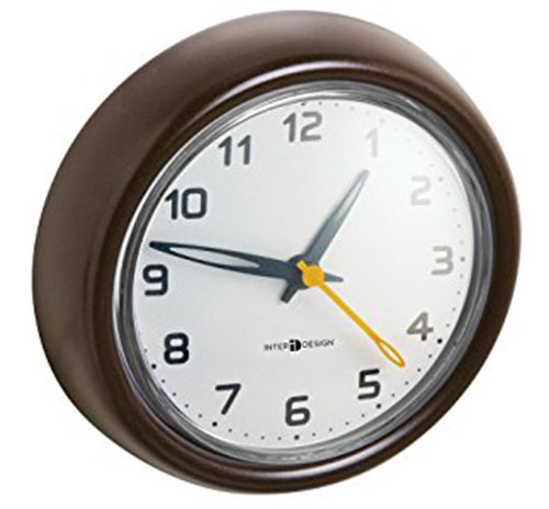 7. mDesign Suction Clock for Bathroom or Shower