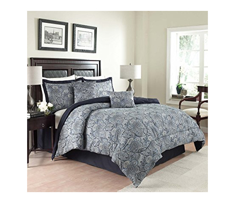 10. Traditions by Waverly 6-Piece Queen Comforter Set (14413BEDDQUEPOR)